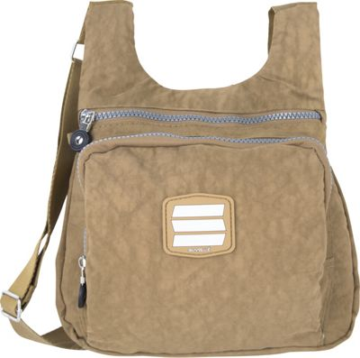 Suvelle Small City Travel/Everyday Shoulder Bag Brown - Suvelle Fabric Handbags