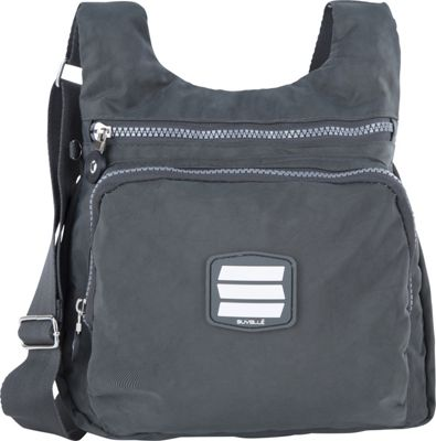 Suvelle Small City Travel/Everyday Shoulder Bag Grey - Suvelle Fabric Handbags