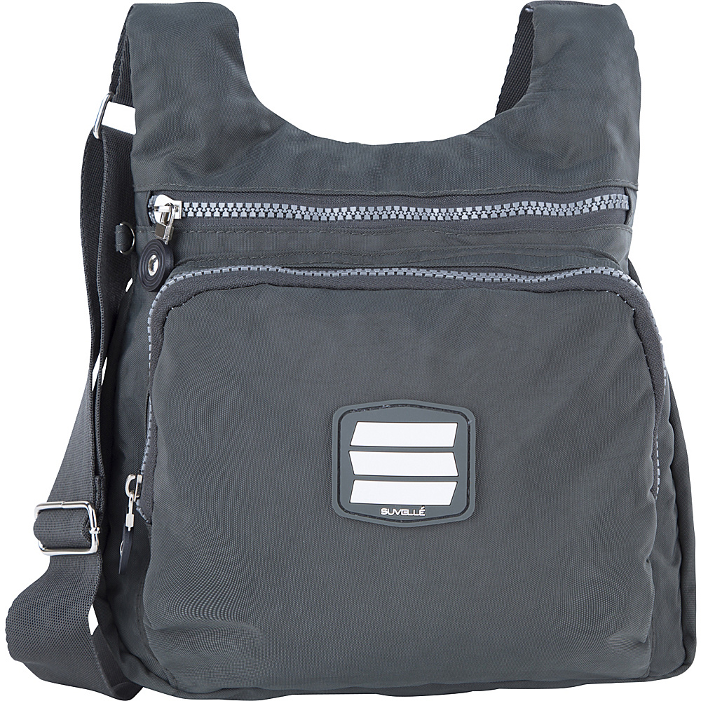 Suvelle Small City Travel Everyday Shoulder Bag Grey Suvelle Fabric Handbags