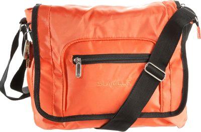 Suvelle Flapper Travel Everyday Shoulder Bag Orange - Suvelle Fabric Handbags