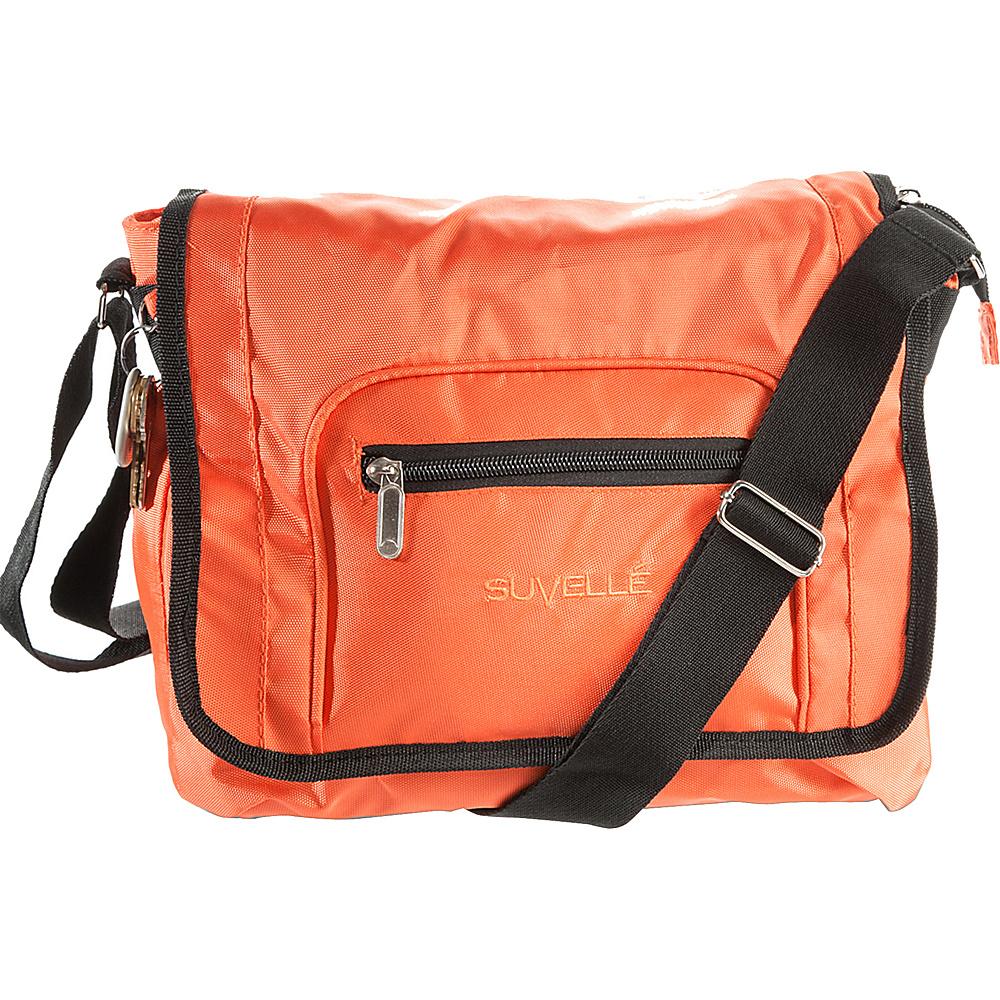 Suvelle Flapper Travel Everyday Shoulder Bag Orange Suvelle Fabric Handbags