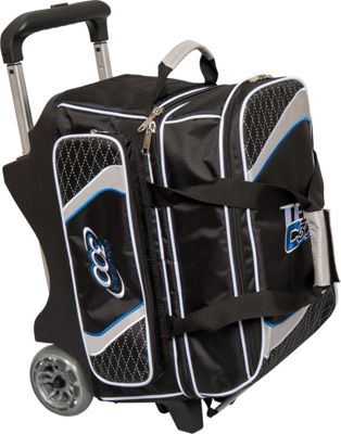 Columbia 300 Bags Team Columbia Double Roller Black/Silver - Columbia 300 Bags Bowling Bags