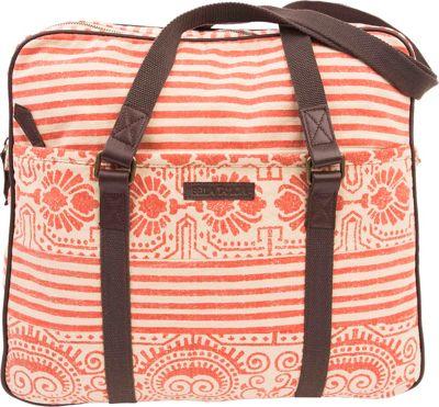 Bella Taylor Wanderlust Tote Amber Orange - Bella Taylor Fabric Handbags
