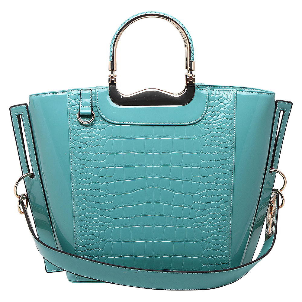 MKF Collection by Mia K. Farrow Tressa Croco-Embossed Shoulder Tote Seafoam - MKF Collection by Mia K. Farrow Gym Bags - Sports, Gym Bags