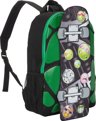 Teenage Mutant Ninja Turtles Skateboard 17 inch Backpack Green - Teenage Mutant Ninja Turtles Everyday Backpacks