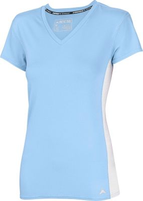 Arctic Cool Womens V-Neck Instant Cooling Shirt with Mesh L - Blizzard Blue - Arctic Cool Women's Apparel