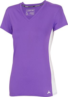 Arctic Cool Womens V-Neck Instant Cooling Shirt with Mesh XL - Purple - Arctic Cool Women's Apparel