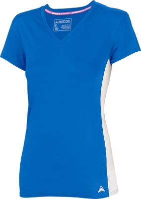 Arctic Cool Womens V-Neck Instant Cooling Shirt with Mesh S - Polar Blue - Arctic Cool Women's Apparel