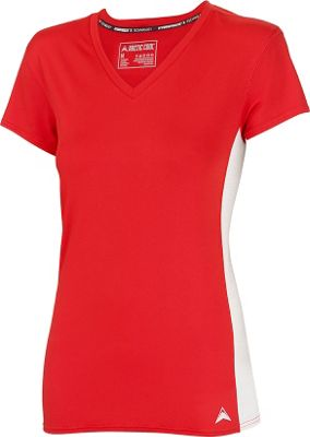 Arctic Cool Womens V-Neck Instant Cooling Shirt with Mesh S - Infra Red - Arctic Cool Women's Apparel