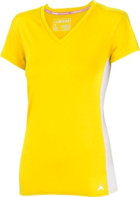 Arctic Cool Womens V-Neck Instant Cooling Shirt with Mesh L - Yellow - Arctic Cool Women's Apparel