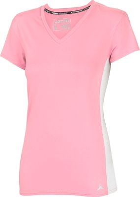 Arctic Cool Womens V-Neck Instant Cooling Shirt with Mesh S - Pink Diamond - Arctic Cool Women's Apparel
