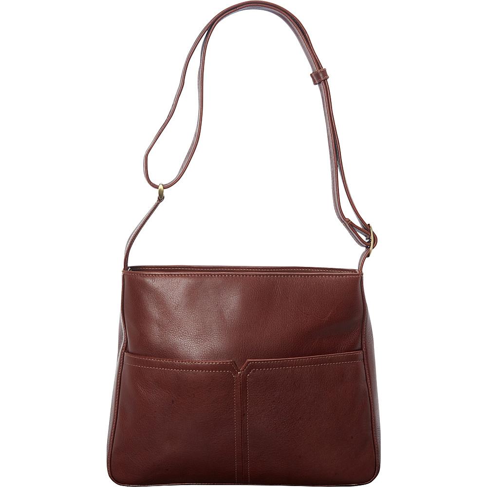 Derek Alexander Large Top Zip Shoulder Bag Whisky - Derek Alexander Leather Handbags - Handbags, Leather Handbags