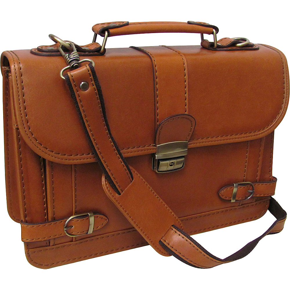 AmeriLeather Veda Leatherette Petite Briefcase Mustard - AmeriLeather Non-Wheeled Business Cases - Work Bags & Briefcases, Non-Wheeled Business Cases