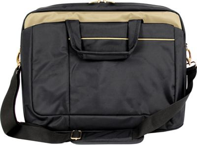 Digital Treasures ToteIt Signature 17 inch Laptop Case Black/Gold - Digital Treasures Non-Wheeled Business Cases