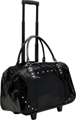 Tara's Travelers Patent Carry-On Trolley Patent Black - Tara's Travelers Softside Carry-On
