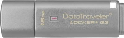 Kingston DataTraveler Locker+ G3/16GB Silver - Kingston Electronic Accessories