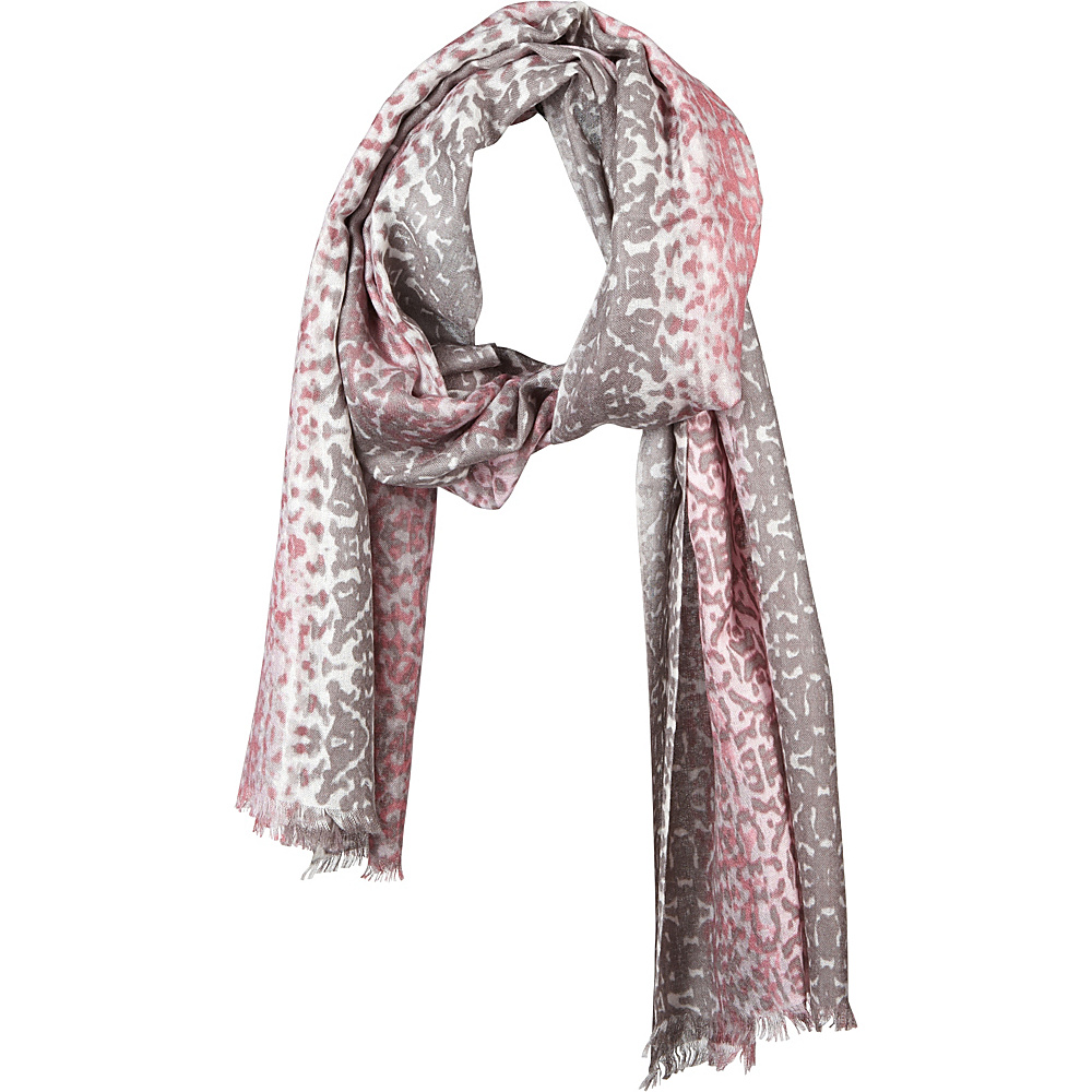 Kinross Cashmere Ombre Ikat Print Scarf Pink Frost Multi - Kinross Cashmere Hats/Gloves/Scarves - Fashion Accessories, Hats/Gloves/Scarves