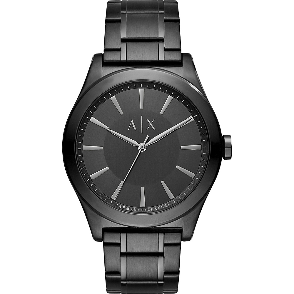 A X Armani Exchange Smart Stainless Steel Watch Black A X Armani Exchange Watches