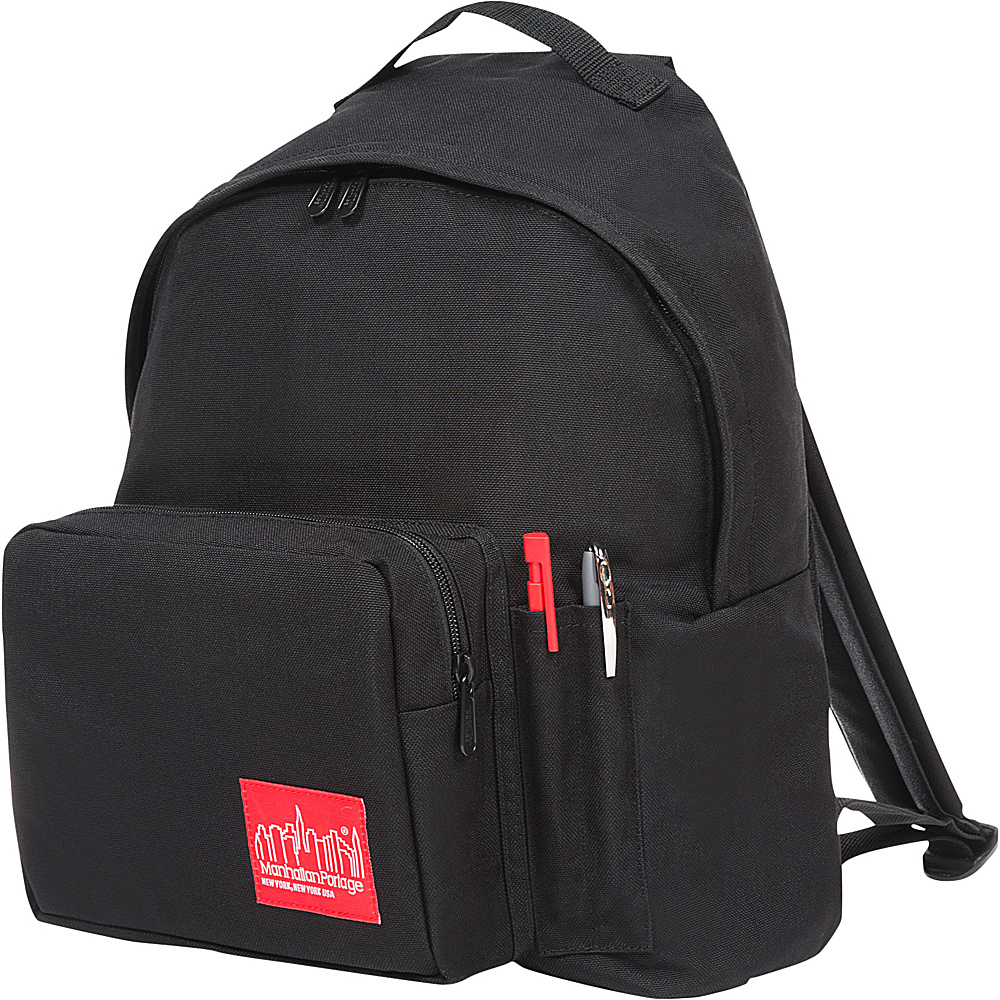 Manhattan Portage Big Apple Backpack with Pen Holder Black - Manhattan Portage Everyday Backpacks - Backpacks, Everyday Backpacks