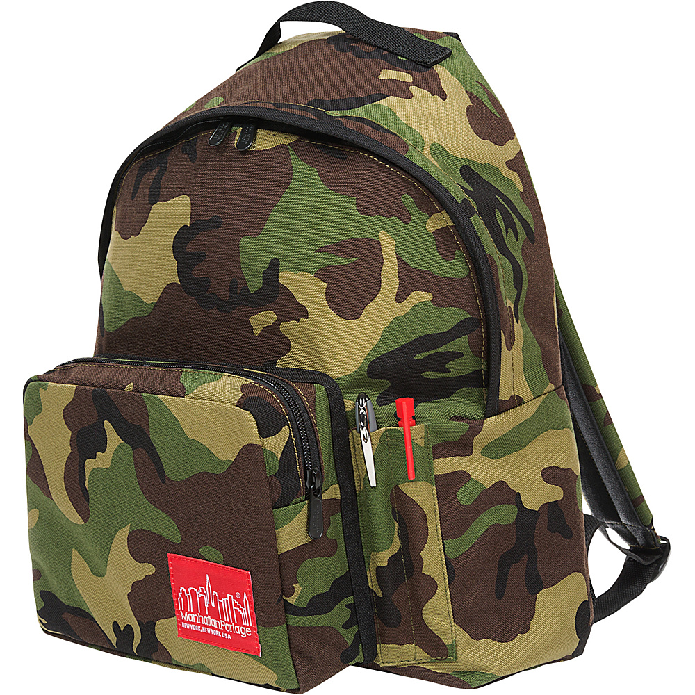 Manhattan Portage Big Apple Backpack with Pen Holder Camo - Manhattan Portage Everyday Backpacks - Backpacks, Everyday Backpacks
