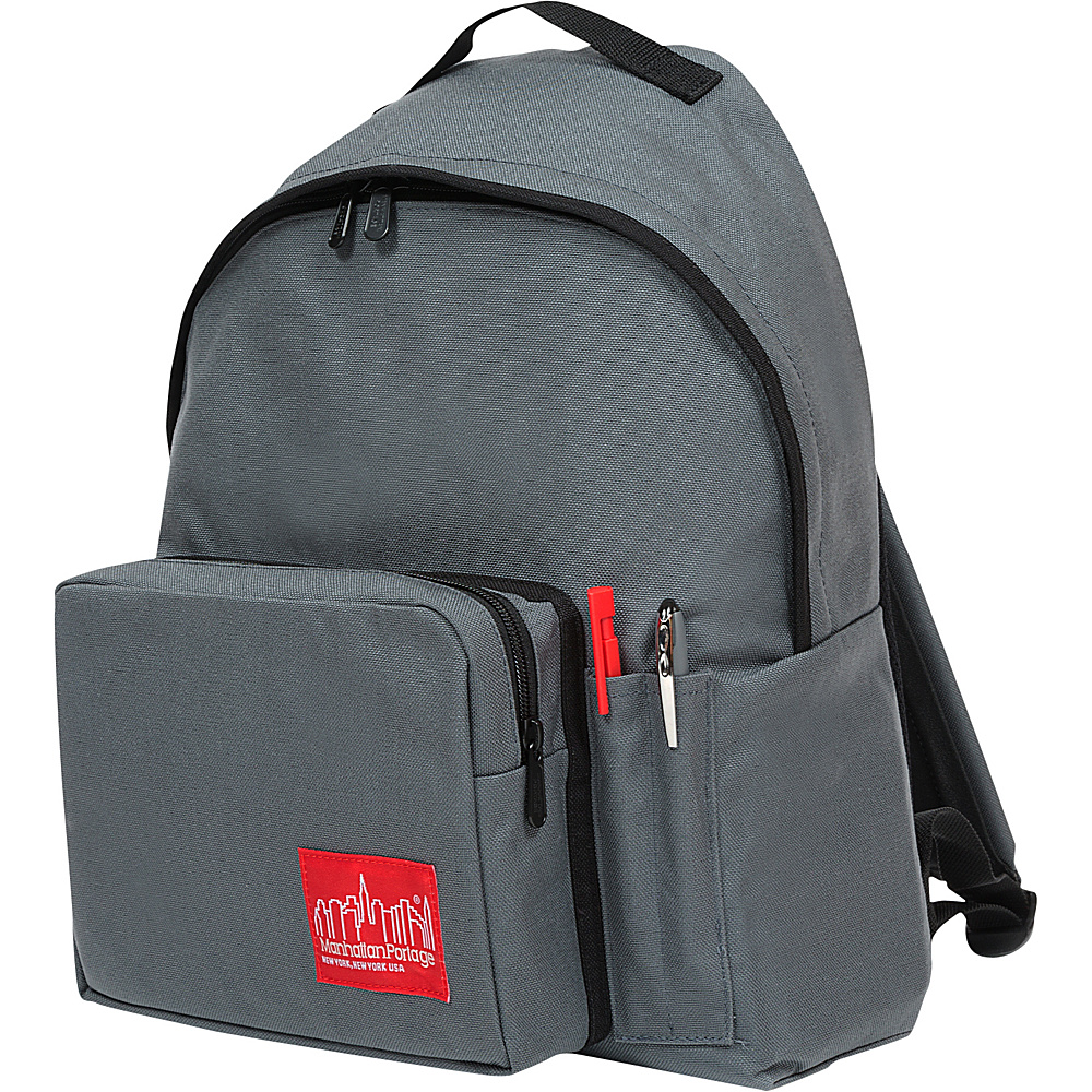 Manhattan Portage Big Apple Backpack with Pen Holder Gray - Manhattan Portage Everyday Backpacks - Backpacks, Everyday Backpacks