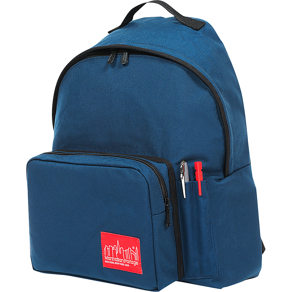 Manhattan Portage Big Apple Backpack with Pen Holder Navy - Manhattan Portage Everyday Backpacks - Backpacks, Everyday Backpacks