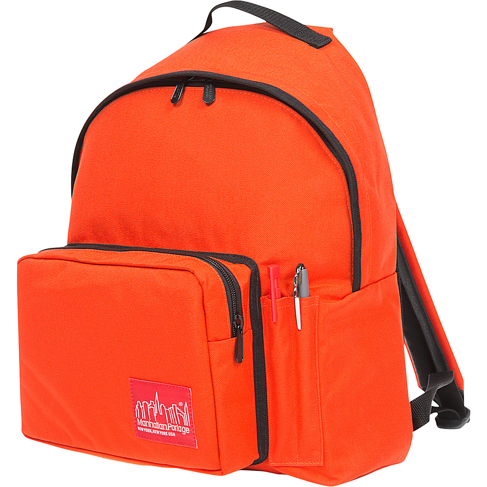 Manhattan Portage Big Apple Backpack with Pen Holder Orange - Manhattan Portage Everyday Backpacks - Backpacks, Everyday Backpacks
