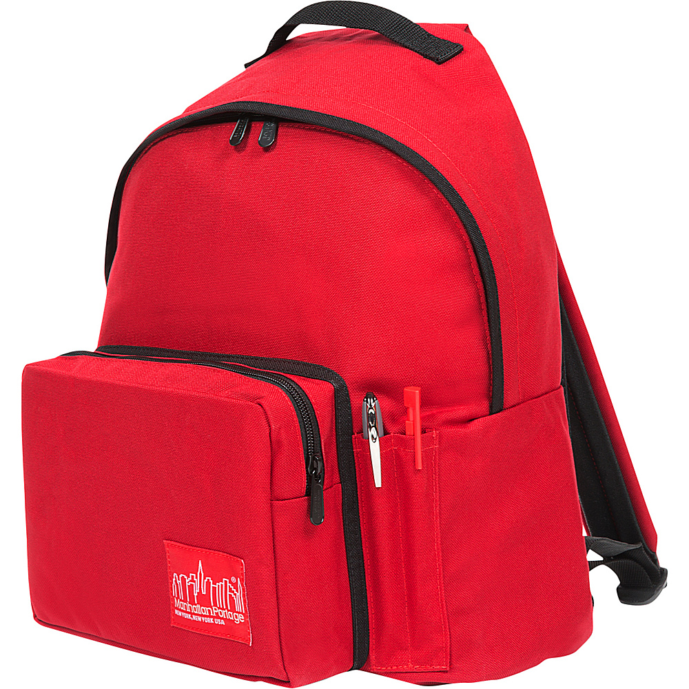 Manhattan Portage Big Apple Backpack with Pen Holder Red - Manhattan Portage Everyday Backpacks - Backpacks, Everyday Backpacks