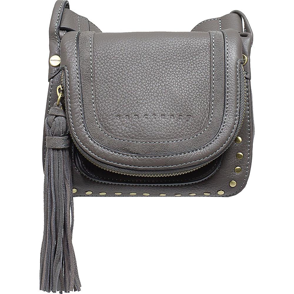 Sanctuary Handbags Studded Lux Bohemian Saddle Crossbody Grey Mica Sanctuary Handbags Designer Handbags