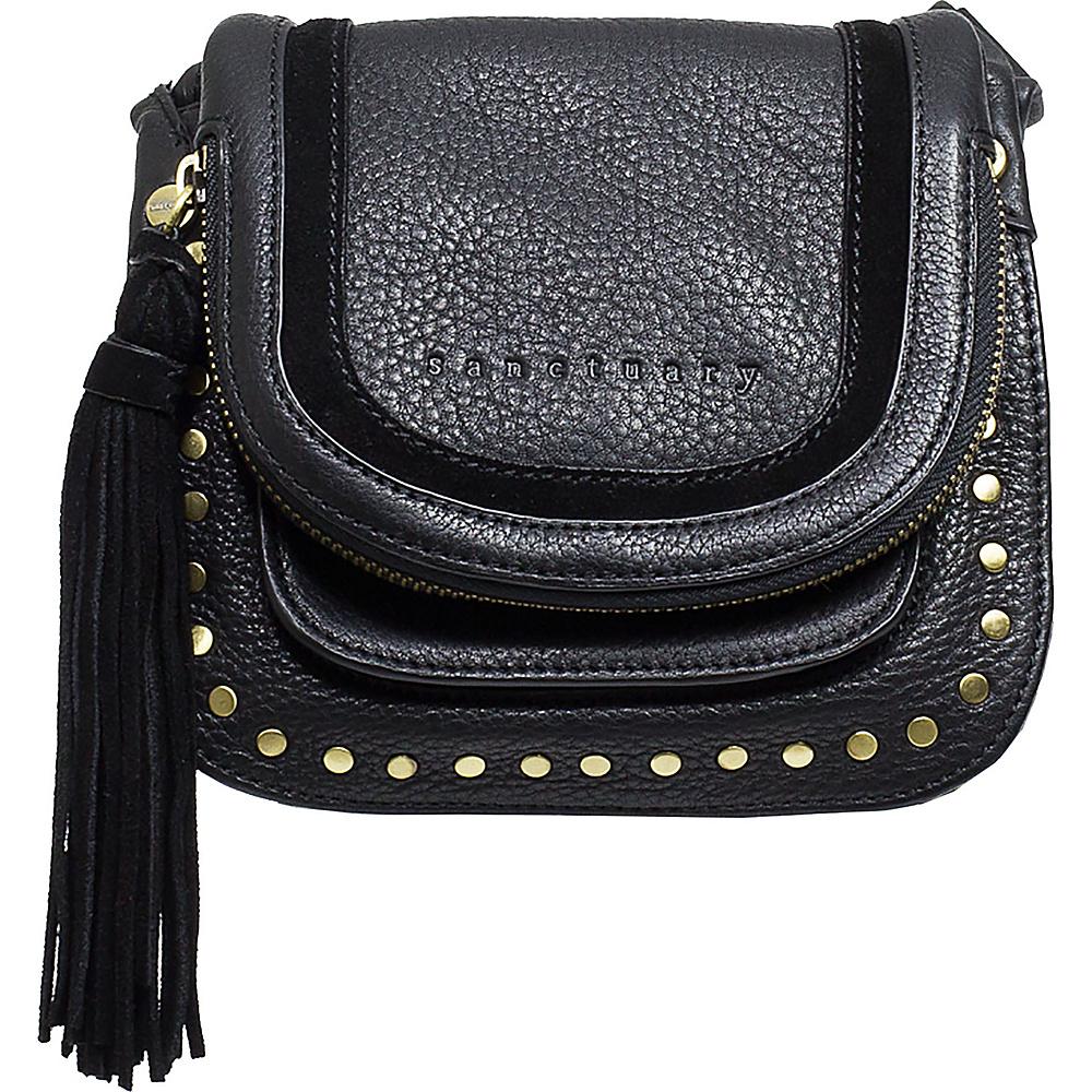 Sanctuary Handbags Studded Lux Bohemian Saddle Crossbody Black Sanctuary Handbags Designer Handbags