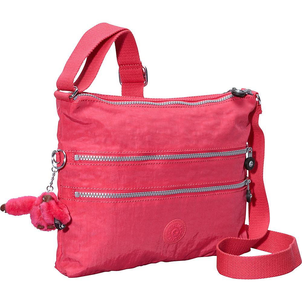 Kipling Alvar Crossbody Bag - Retired Colors Vibrant Pink - Kipling Fabric Handbags