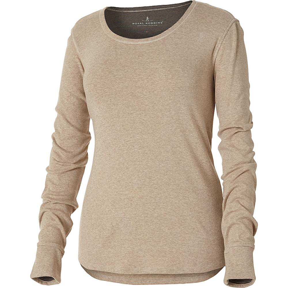 Royal Robbins Kick Back Scoop Neck Top XL - Oatmeal - Royal Robbins Womens Apparel - Apparel & Footwear, Women's Apparel
