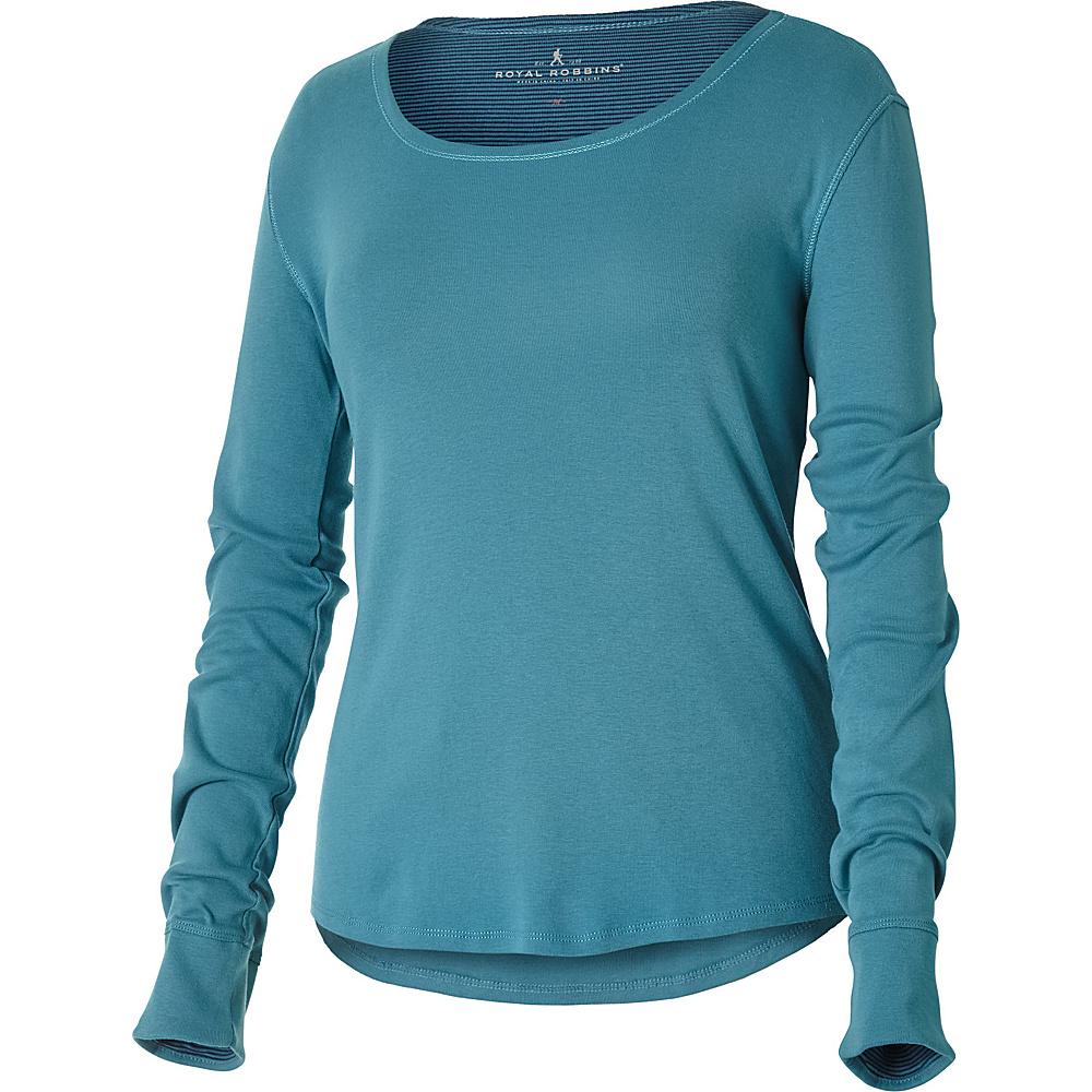 Royal Robbins Kick Back Scoop Neck Top XS - Cove - Royal Robbins Womens Apparel - Apparel & Footwear, Women's Apparel