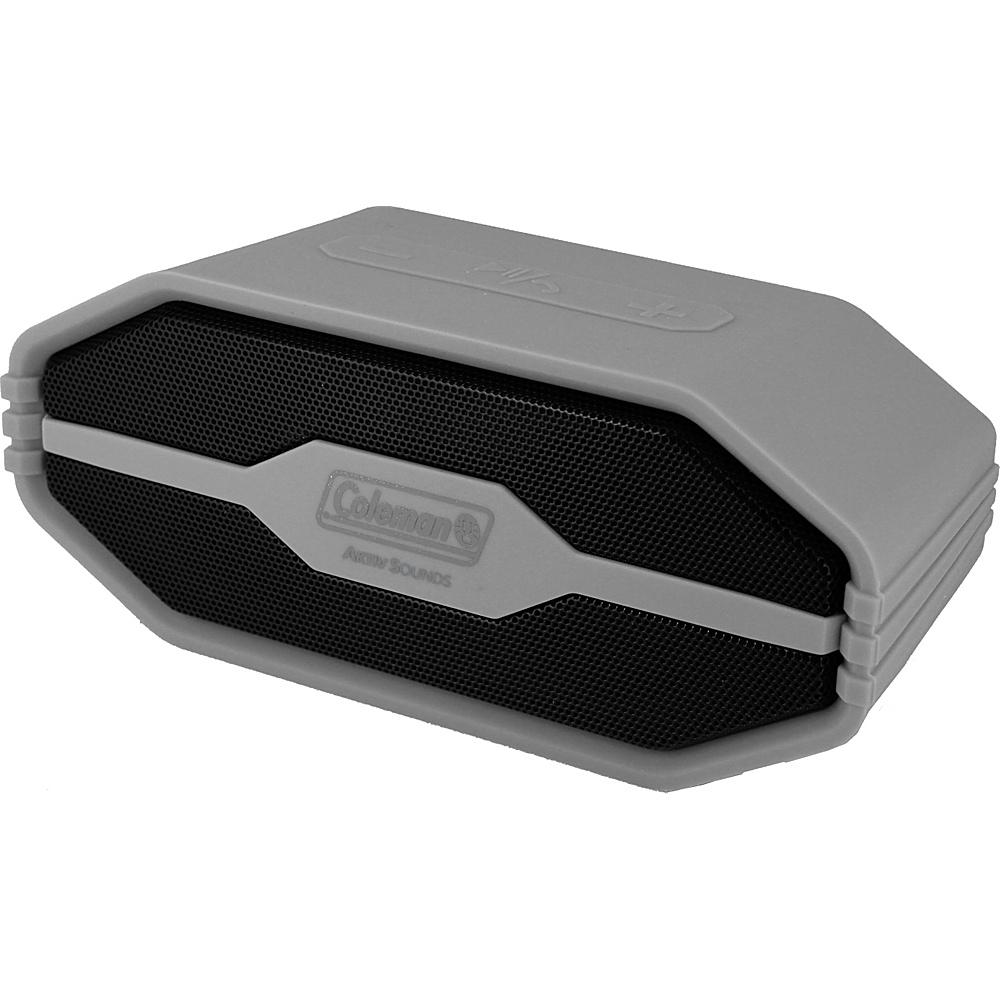 Coleman SoundTrail Mini Water Resistant Bluetooth Speaker Grey Coleman Headphones Speakers
