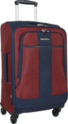 Nautica Beach Island 20 inch Expandable Spinner Carry-On Navy/red - Nautica Softside Carry-On