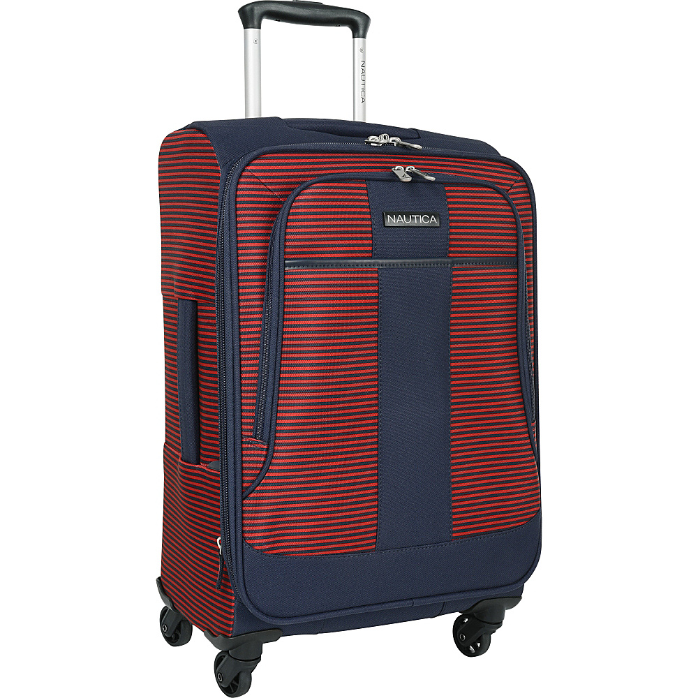 Nautica Beach Island 20 Expandable Spinner Carry On Navy red Nautica Softside Carry On