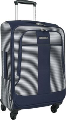 Nautica Beach Island 20 inch Expandable Spinner Carry-On Navy/white - Nautica Softside Carry-On