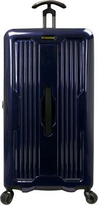 PROKAS Ultimax 30 inch Spinner Trunk Luggage Navy - PROKAS Hardside Checked