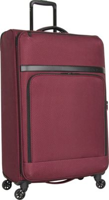 Ben Sherman Luggage York Collection 28 inch Upright Luggage Cherry Brandy - Ben Sherman Luggage Softside Checked