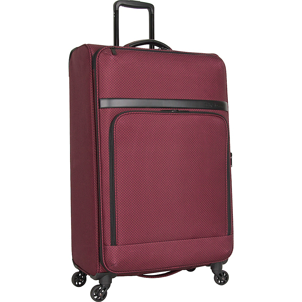 Ben Sherman Luggage York Collection 28 Upright Luggage Cherry Brandy Ben Sherman Luggage Softside Checked