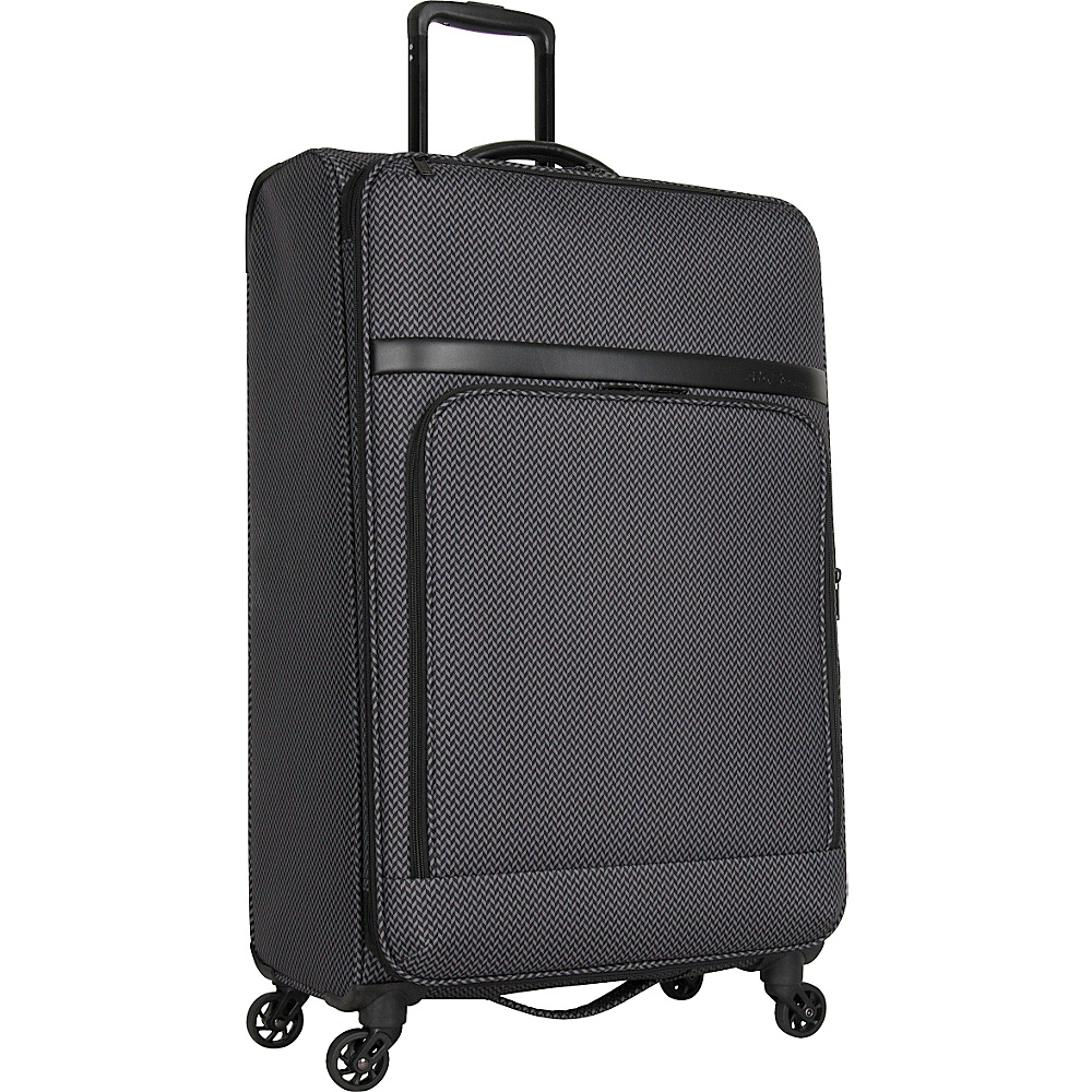 Ben Sherman Luggage York Collection 28 Upright Luggage Black Grey Herringbone Ben Sherman Luggage Softside Checked