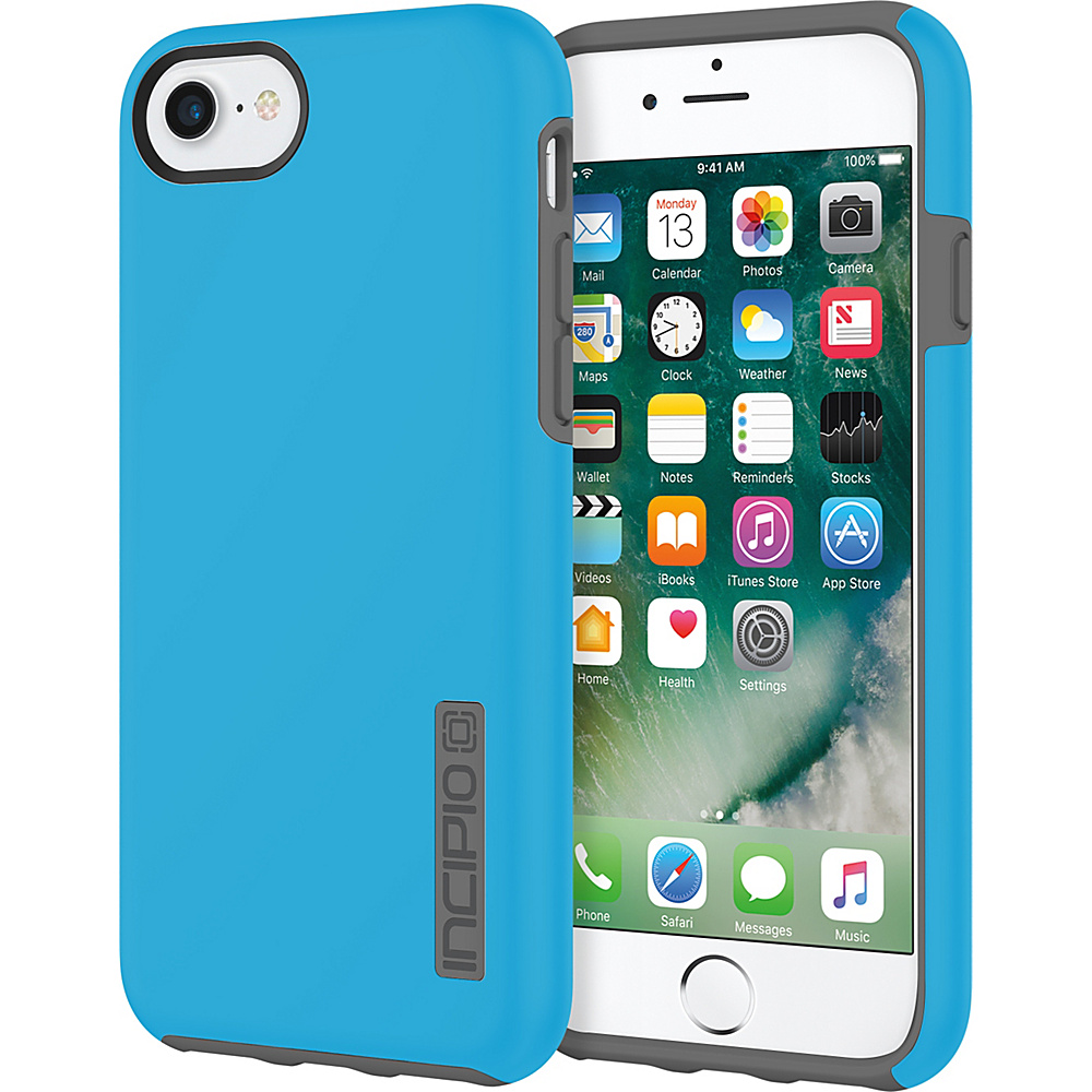 Incipio DualPro for iPhone 7 Cyan/Charcoal(CYC) - Incipio Electronic Cases - Technology, Electronic Cases