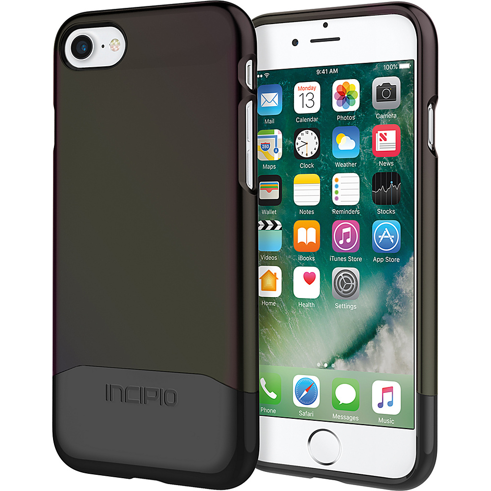 Incipio Edge Chrome for iPhone 7 Iridescent Black Oil Slick/Chrome Black(BLK) - Incipio Electronic Cases - Technology, Electronic Cases