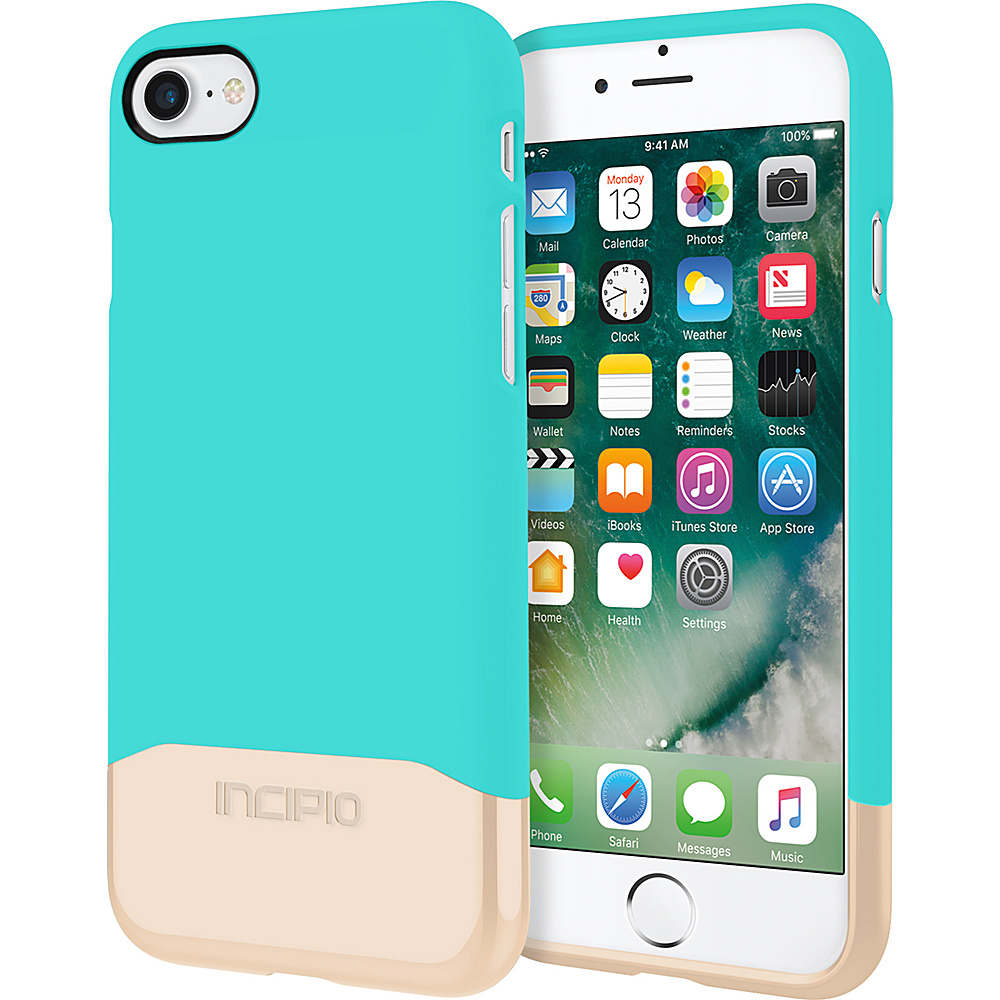 Incipio Edge Chrome for iPhone 7 Turquoise/Champagne Chrome(TQC) - Incipio Electronic Cases - Technology, Electronic Cases