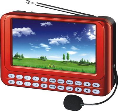 QFX PD-43 Flash Portable Media Player Red - QFX Portable Entertainment