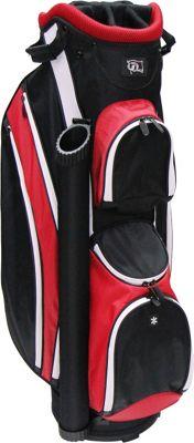 RJ Golf Lightweight Cart Bag Black/Red - RJ Golf Golf Bags