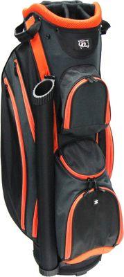 RJ Golf Lightweight Cart Bag Black/Orange - RJ Golf Golf Bags