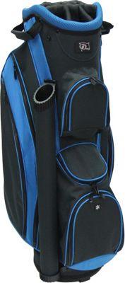 RJ Golf Lightweight Cart Bag Charcoal/True Blue - RJ Golf Golf Bags