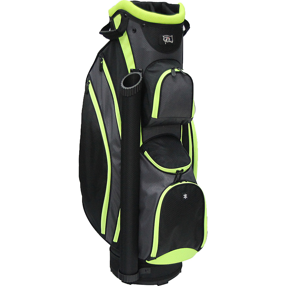 RJ Golf Lightweight Cart Bag Black/Lime - RJ Golf Golf Bags