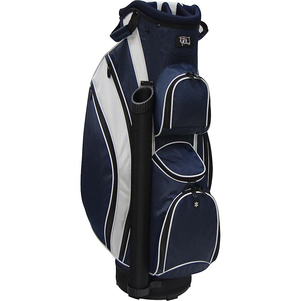RJ Golf Lightweight Cart Bag Navy/White - RJ Golf Golf Bags